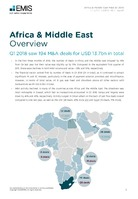 Africa and the Middle East M&A Overview Report Q1 2018 -  Page 3
